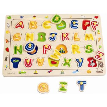 ★結帳現折★德國educo愛傑卡 ABC配對木拼圖
