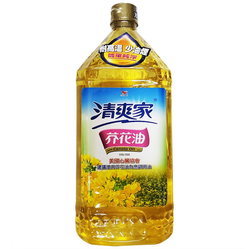 統一 清爽家芥花油(2L/桶)