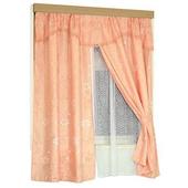 《布安於室》經典雙層DIY落地穿掛窗簾(粉)