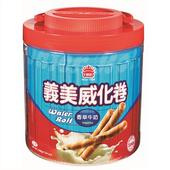 《義美》香草牛奶威化捲桶(500g/桶)