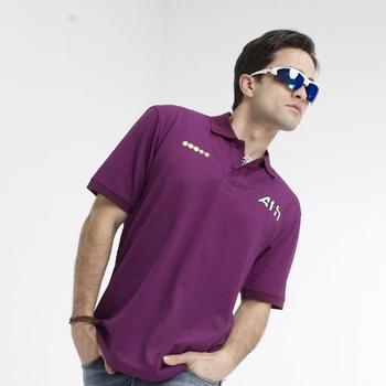 SASAKI 精梳棉質運動POLO短衫 深葡萄紫(XL)