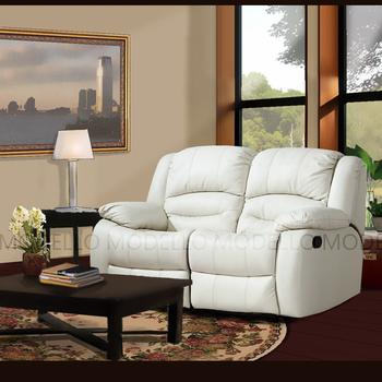 Modello 伊莉莎白半牛皮休閒椅(米白色雙人沙發)