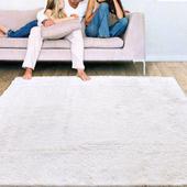《Ambience》進口Bonnie類兔絨長毛毯(床邊/走道毯)-白色(70x140cm)
