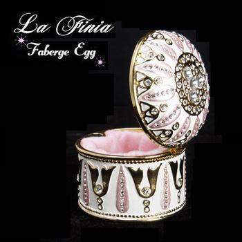 La Finia 彩繪復古巴洛克珠寶盒(白色)