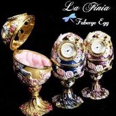 ~La Finia~彩繪秘密花園時鐘珠寶盒 金色