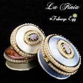 ~La Finia~彩繪珍珠玫瑰園珠寶盒 天空藍
