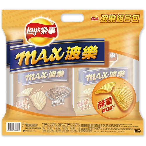 《Lay's樂事》波樂厚片組合包(43gx4包/袋)