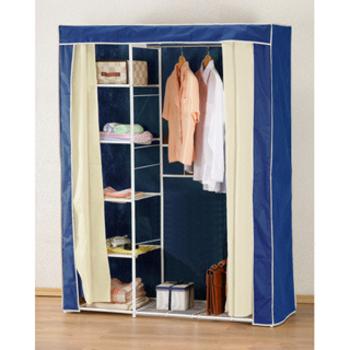 《C&B》新垣日式防塵衣櫥架-寬120CM(藍色)