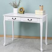 《Homelike》雅歐風二抽書桌(純白色)