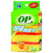 《OP》柑橘除油海綿菜瓜布1.3x7.6x11.5cm/4入 $45