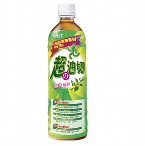 古道 超油切綠茶-新無糖(600ml*4瓶/組)