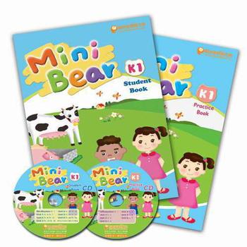 常春藤 Mini Bear 幼兒英語K1(2書+2CD)(1課本+1習作+2CD)