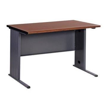 《時尚屋》辦公桌胡桃木紋/深灰(120cm)