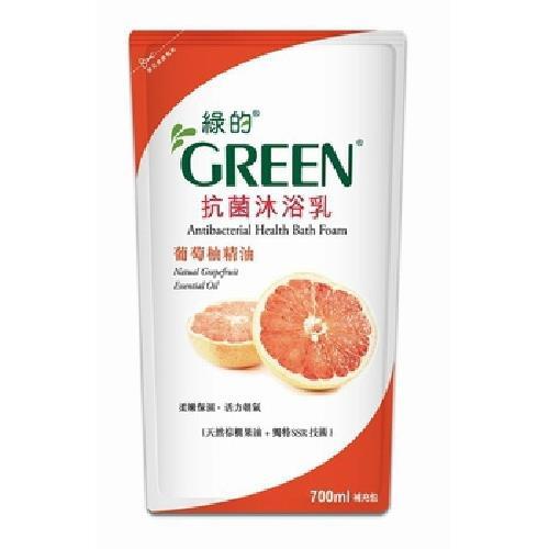 GREEN綠的 抗菌沐浴乳補充包-葡萄柚(700ml/包)