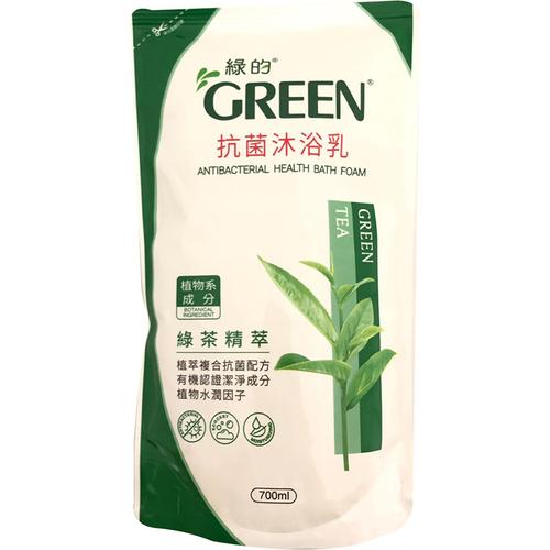 GREEN綠的 抗菌沐浴乳補充包-綠茶(700ml/包)