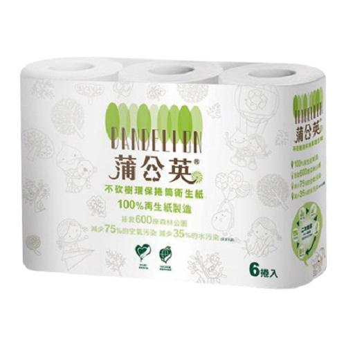 蒲公英 環保捲筒衛生紙(270組x6捲/串)
