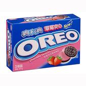 《奧利奧》草莓夾心三明治餅乾(399g/盒)