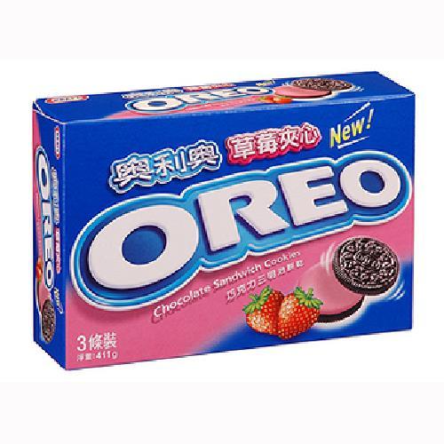 奧利奧 草莓夾心三明治餅乾(411g/盒)