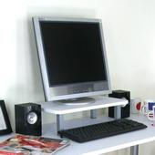桌上型置物架-1入組/素雅白色(30D×48Wx12.5H公分)