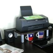 桌上型置物架-1入組/深胡桃木色(30D×48Wx12.5H公分)