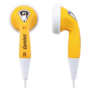 Genius Genius GHP-02S 耳塞式隨身耳機-蛋黃色