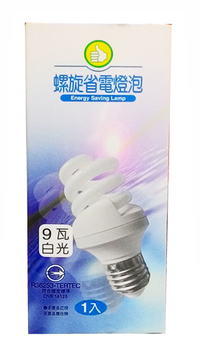 FP 電子式螺旋省電燈泡-白光(9W/120V)