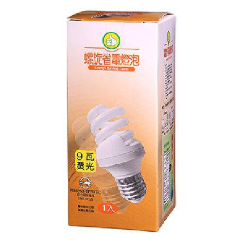出清FP 電子式螺旋省電燈泡-黃光(9W/120V)