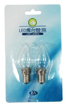 FP LED 燭台燈泡-白光(2W/E12/2入)
