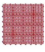 《FP》浴室組合墊6片-紅色(30x30x1.2cm*6pcs)