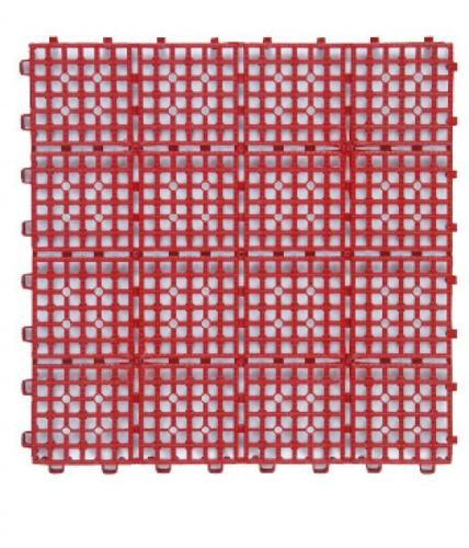FP 浴室組合墊6片-紅色(30x30x1.2cm*6pcs)