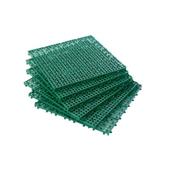 《FP》浴室組合墊6片-綠色(30x30x1.2cm*6pcs)
