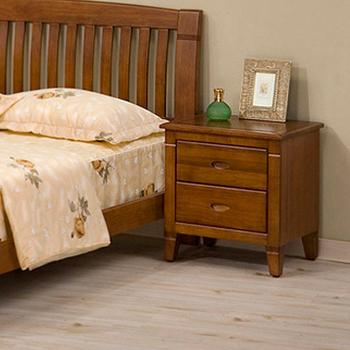 Homelike 亞倫實木床頭櫃