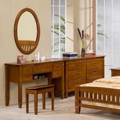 《Homelike》亞倫實木化妝桌椅組