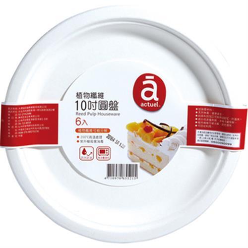 RT 大潤發植物纖維10吋圓盤(6入/25.4CM)