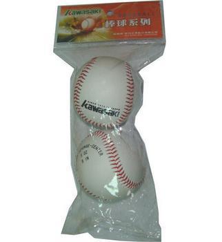 《KAWASAKI》軟式紅線棒球(2入/袋)