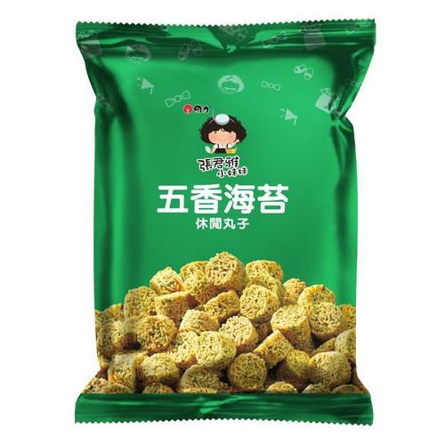 維力 張君雅小妹妹五香海苔休閒丸子(80g/包)