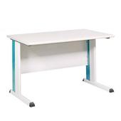 《時尚屋》辦公桌灰/藍(140CM)