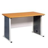 《時尚屋》辦公桌木紋/黑(120cm)