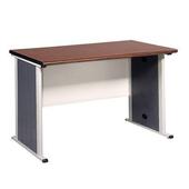 《時尚屋》辦公桌胡桃木紋/黑(120cm)