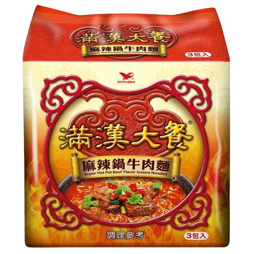 統一 滿漢大餐麻辣鍋牛肉麵(200gx3包/組)
