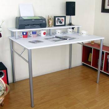 頂堅 書桌80x120(附桌上架)(白色)