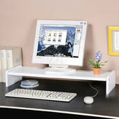 《Homelike》伸縮式桌上型置物架(純白色)