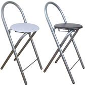 《頂堅》鋼管高背(木製椅座)折疊-吧台椅/折疊椅(二色可選)-4入/組(深胡桃木色)