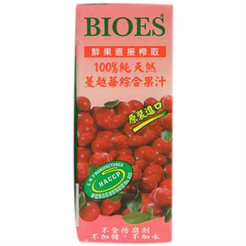 囍瑞 BIOES100%純天然蔓越莓綜合果汁(200ml*6包/組)