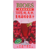 《囍瑞》BIOES100%純天然蔓越莓綜合果汁(1000ml/包)