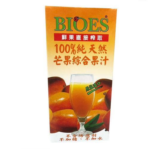 囍瑞 BIOES100%純天然芒果綜合果汁(1000ml/包)