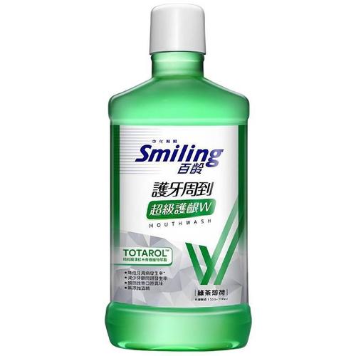 百齡 護牙周到漱口水-綠茶薄荷(500ml/瓶)