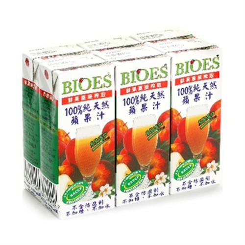 囍瑞 BIOES100%純天然蘋果汁(200ml*6包/組)