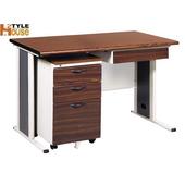 《時尚屋》120cm胡桃木紋色辦公桌櫃組