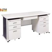 《時尚屋》150cm 灰色YS辦公桌櫃組